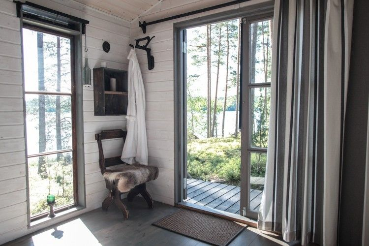 Ikkunat verhot mökki Pellavaa ja pastellia blogi