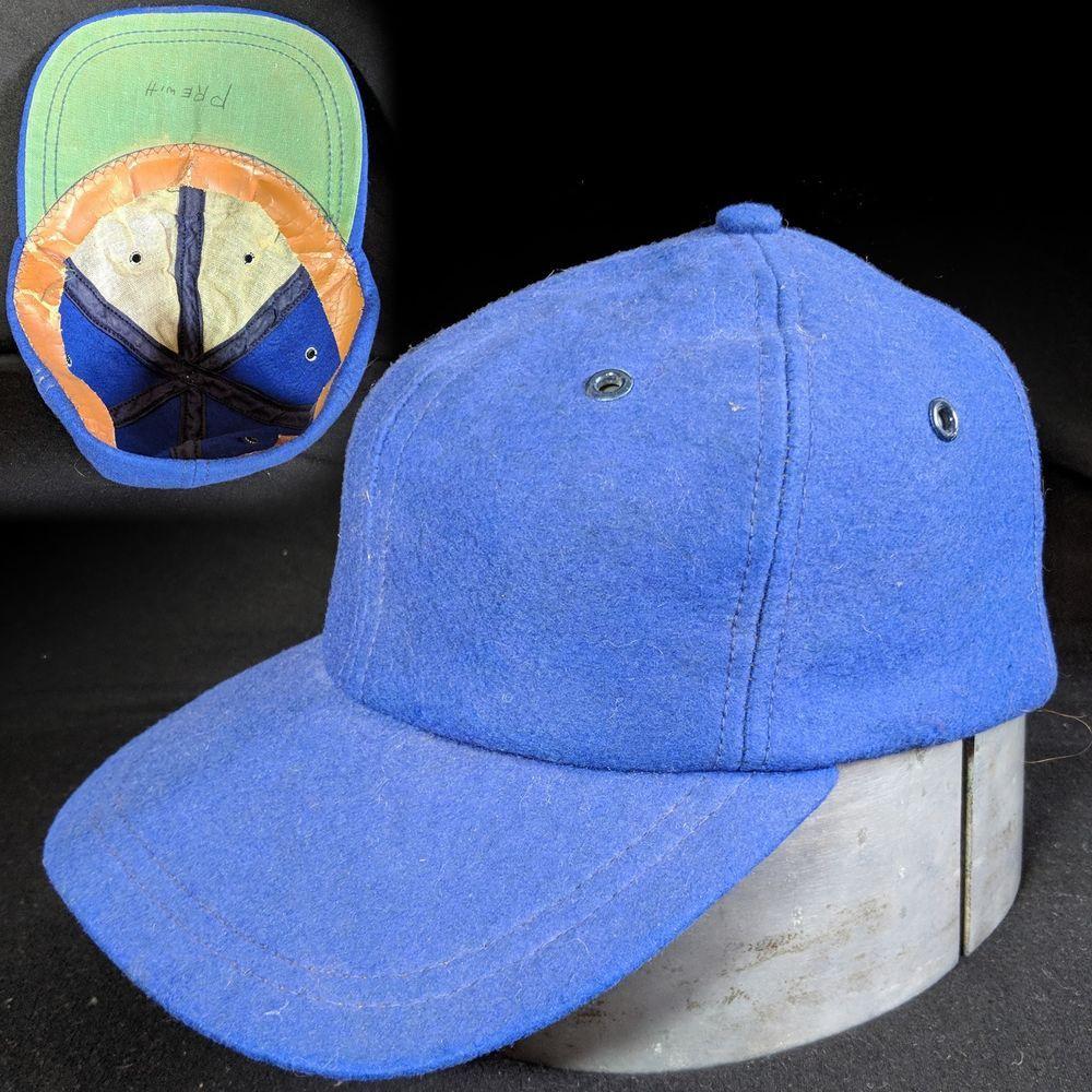89cd1acaa09710 Vintage 1940s 1950s Blue Wool Baseball Cap Six Panel Green Brim men's hat  #fashion #clothing #shoes #accessories #vintage #vintageaccessories (ebay  link)