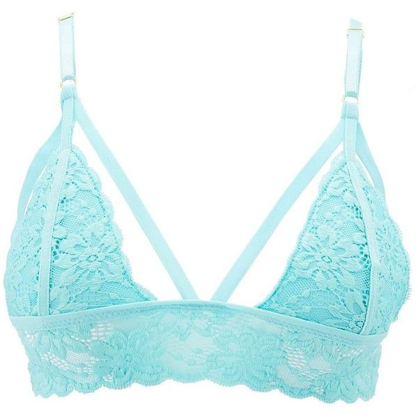 9fd777f4cf Charlotte Russe Caged Lace Longline Bralette ( 11) ❤ liked on Polyvore  featuring intimates