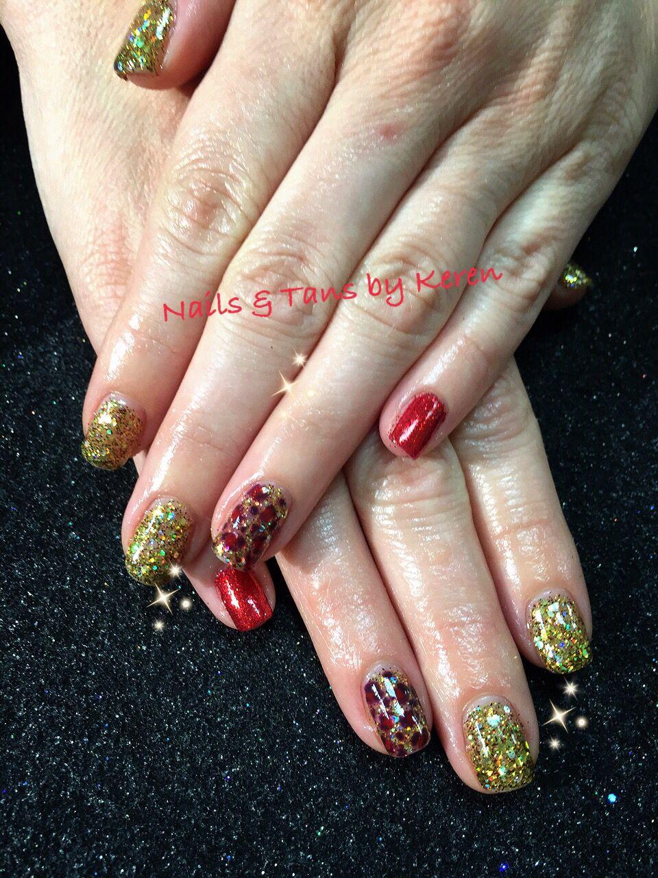 gold & red glitter combo. Fall nails 2014 | Nail Addict | Pinterest ...