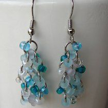 Bead and Chain Dangle Earrings   AllFreeJewelryMaking.com