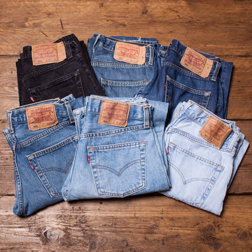 8212023e6e6 Womens Vintage Levis 501 Mom Boyfriend Jeans Grade A High Waisted 26 27 28  29 30