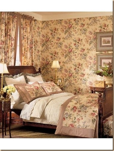 English Country Cottage Decor ~Cozy English bedroom! * Rosewood - englischer landhausstil schlafzimmer