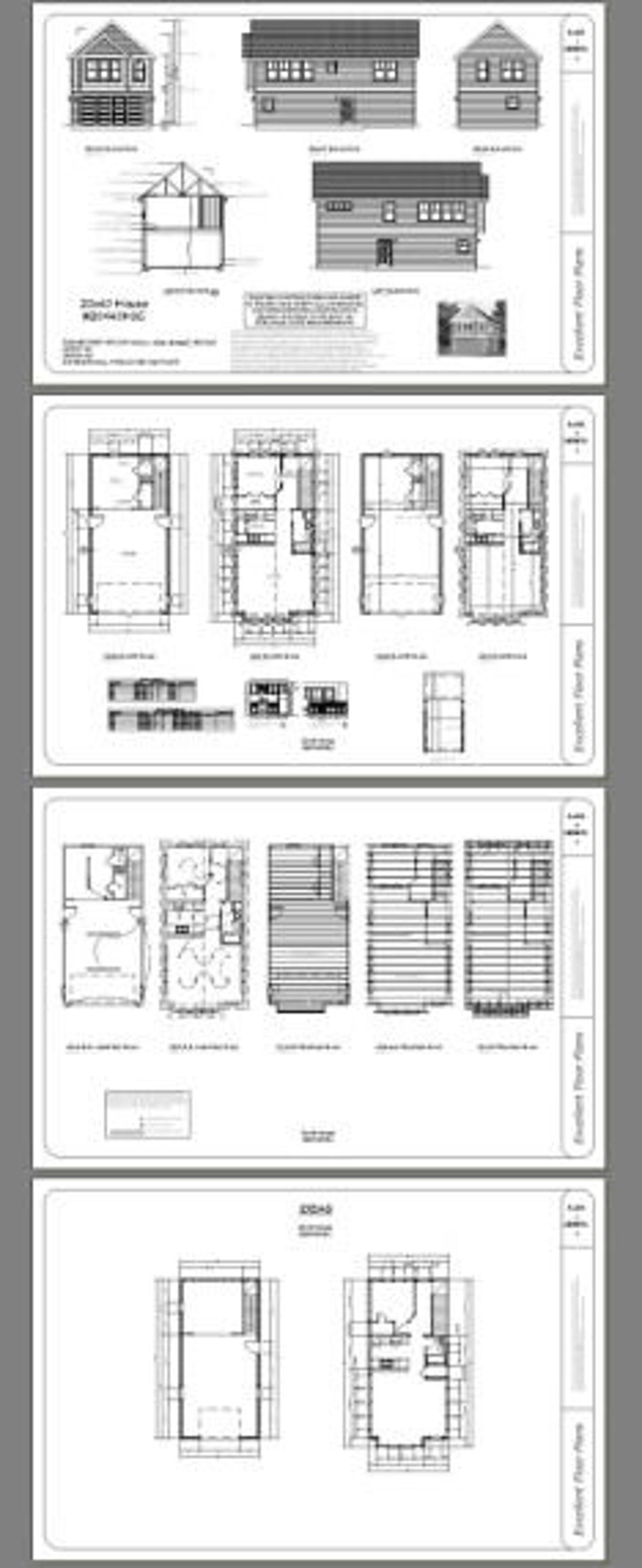 20x40 House 1 Bedroom 1 5 Bath 987 sq ft PDF Floor Plan Instant Download Model 8C