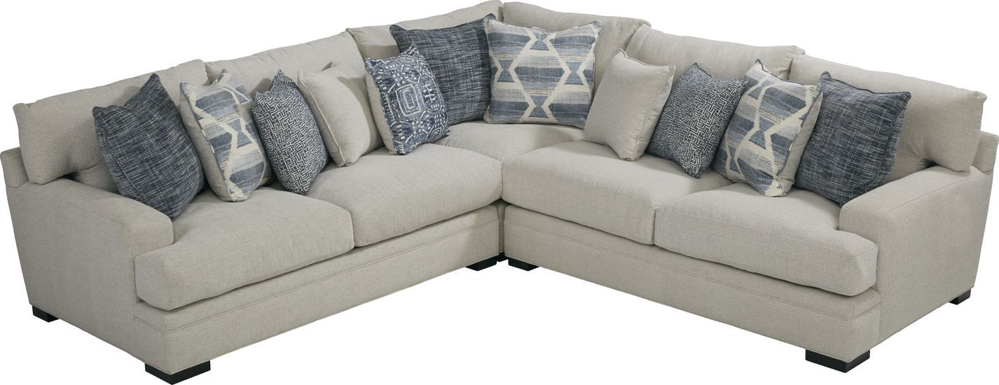 Cindy Crawford Home Bedford Park Ivory 3 Pc Sectional Rooms To