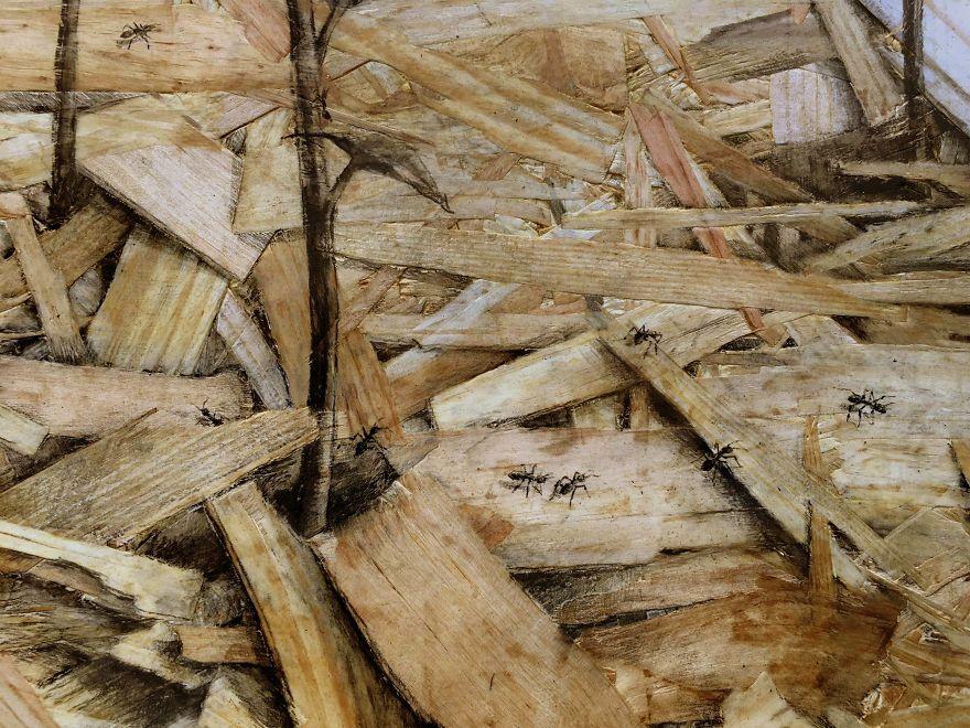 Spanish Artist Pejac Transforms Pressed Wood Into Optical Illusion