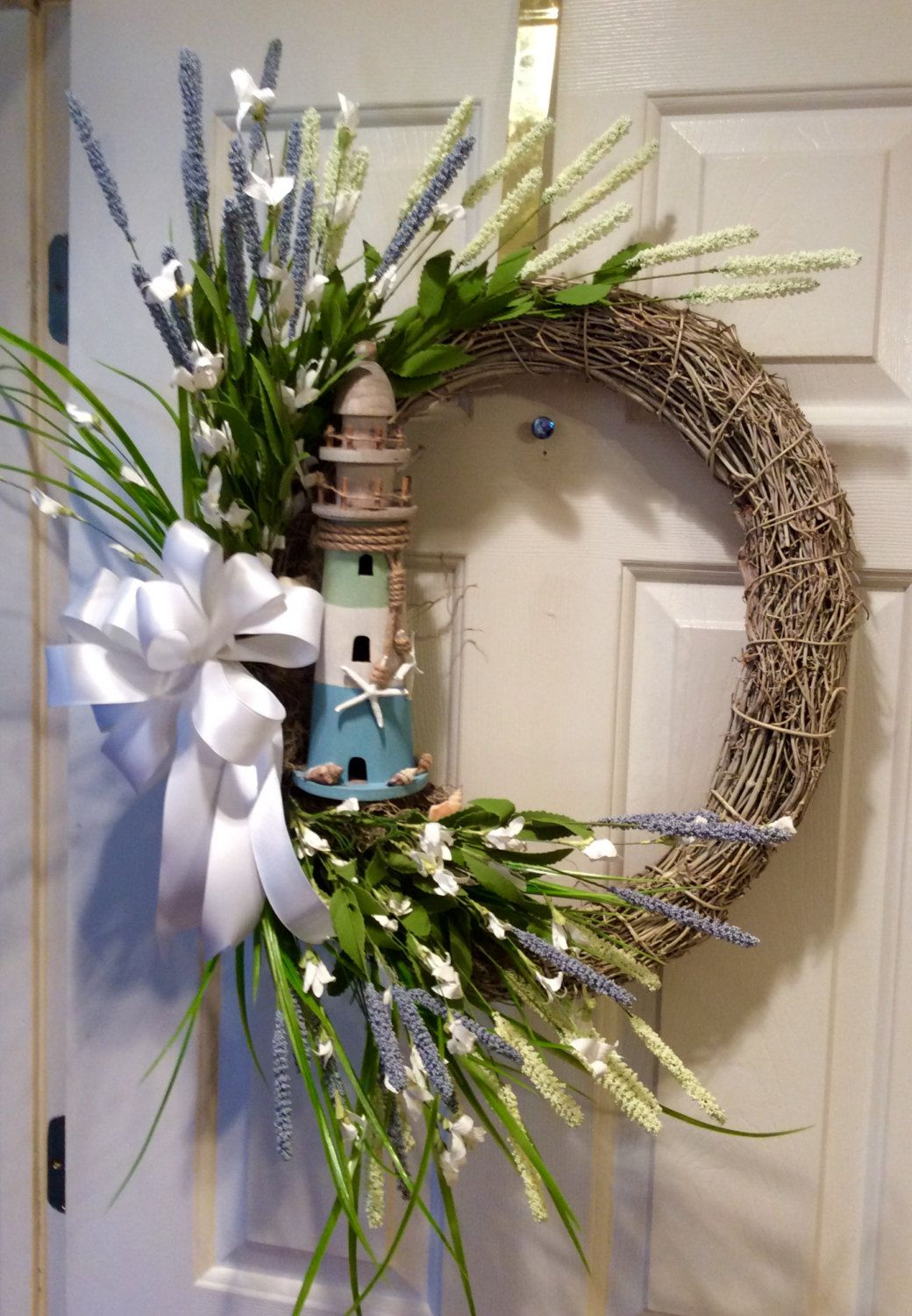 Nautical Beach Grapevine Wreath By Madeforbri On Etsy With Images