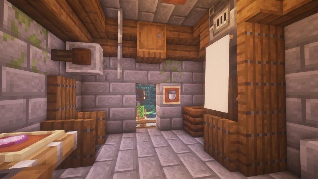 Mein Badezimmer In Minecraft 1 14 Minecraft Minecraftbuild Badezimmer Home Decor Home Decor