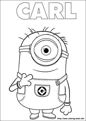 Minions para colorear Carl | MOLDES PARA FOMI | Pinterest | Minion ...
