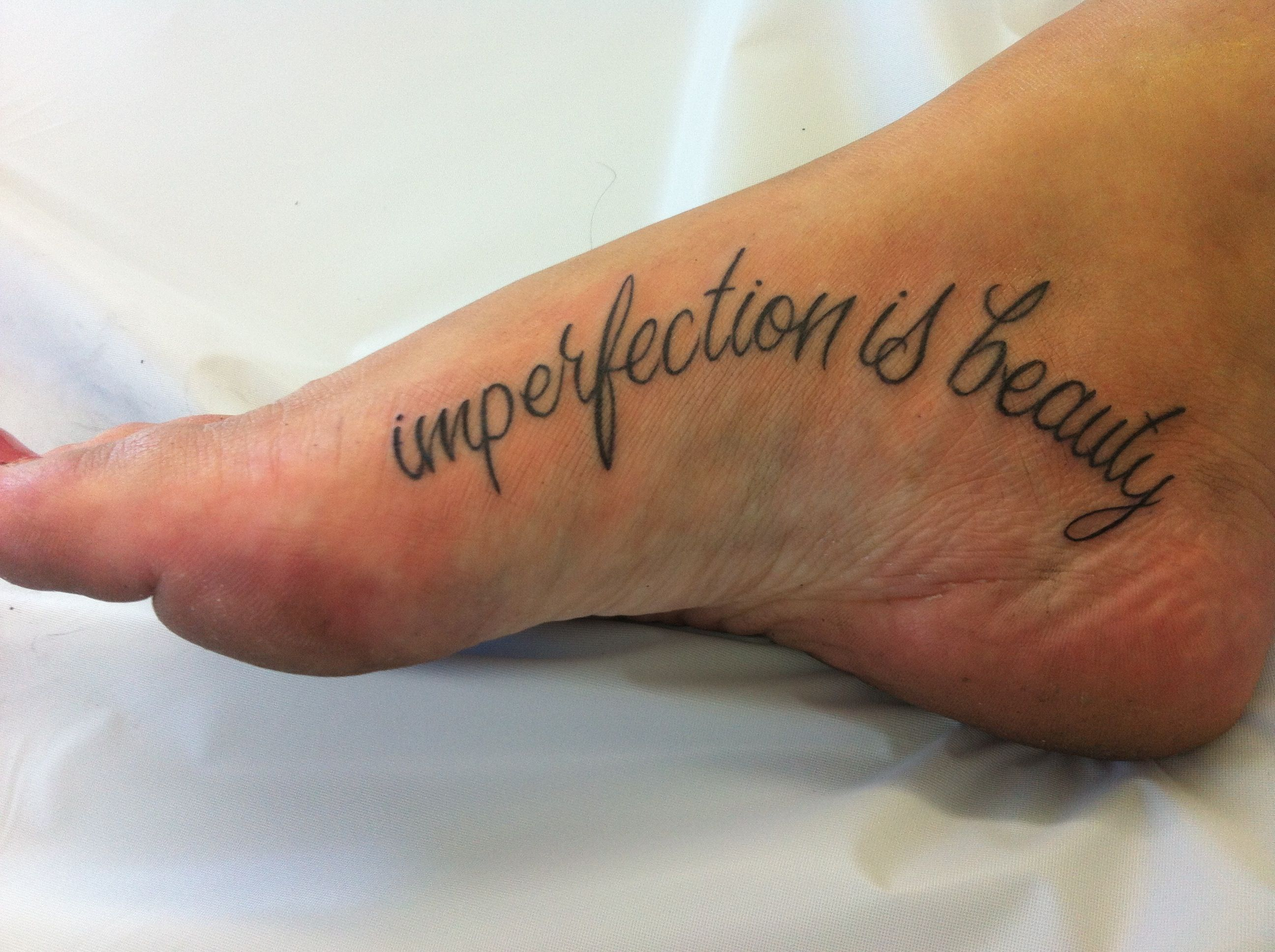 Marilyn Monroe . imperfection is beauty tattoo. foot placement ...