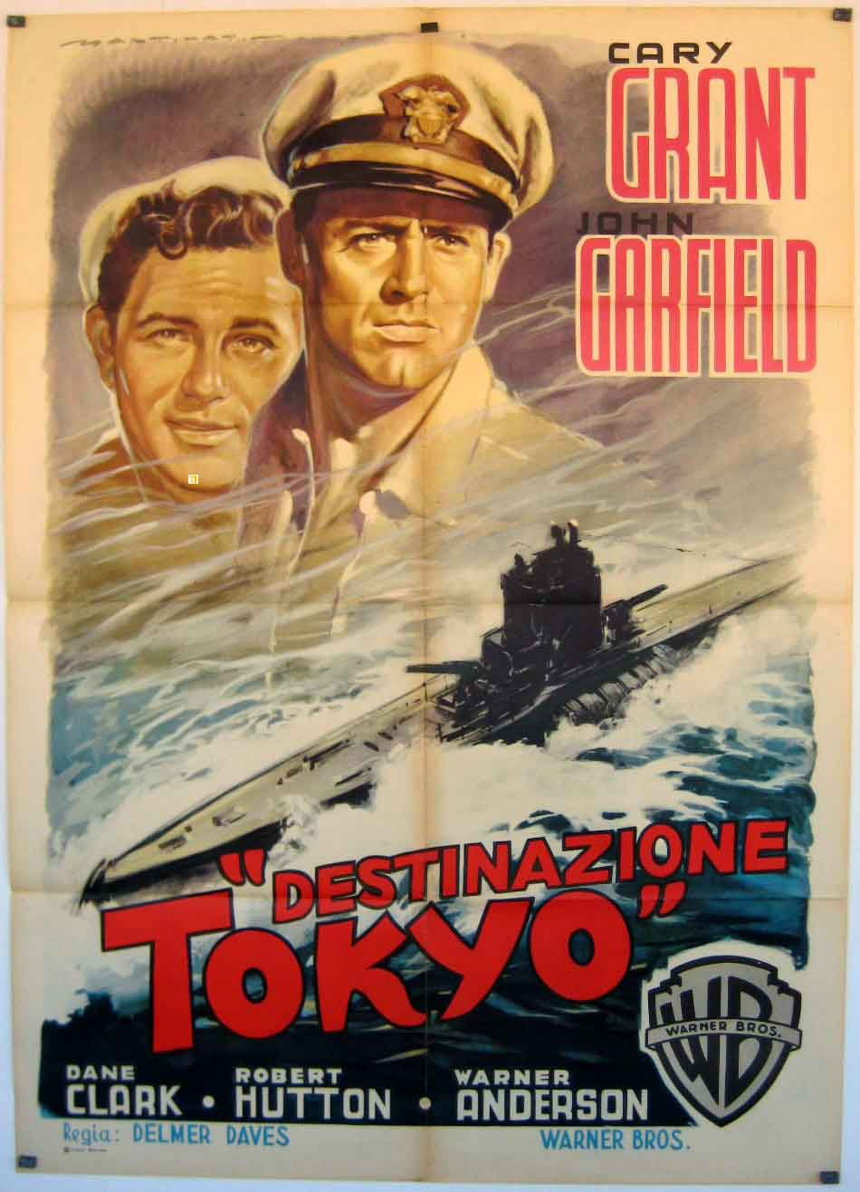 Destination Tokyo 1943 War Film Classic Films Posters Movie