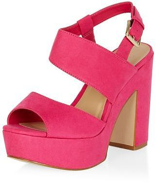 e205bad2d5c Womens hot pink heels from New Look - £27.99 at ClothingByColour.com ...