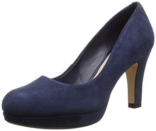 Clarks Crisp Kendra, Damen Pumps, Blau (NAVY SUEDE), 39 EU
