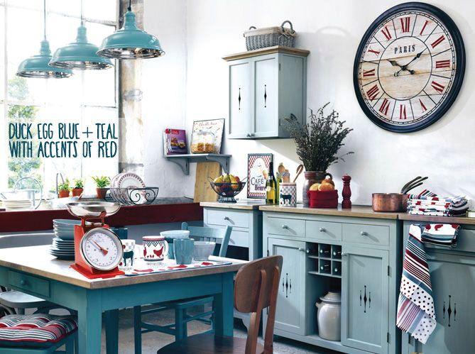 Cuisine deco cuisine campagne rouge : Cuisine bistrot rouge | Cozinhas | Pinterest | Cuisine, Deco and ...