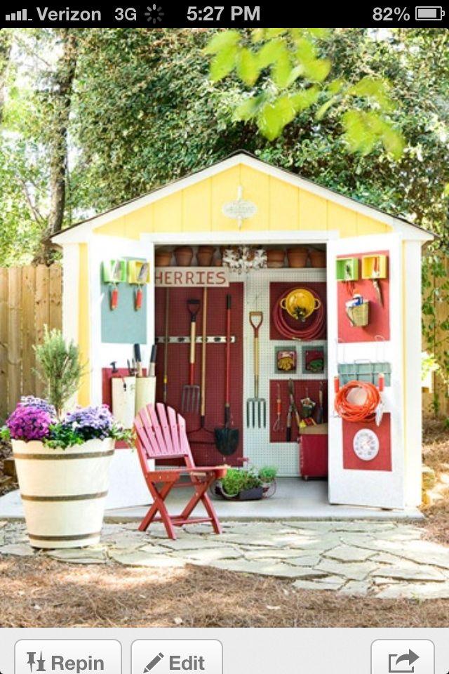 Garden shed organization outdoors pinterest for Garden shed organisation