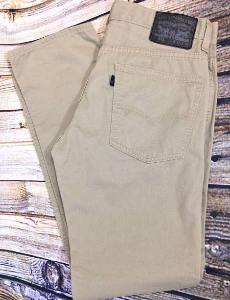 cb1ea1c5111 LEVI'S 511 Black Label Khaki Pants Sz W32 L32 Straight Leg 5 Pocket 100%  Cotton #Levis #KhakisChinos
