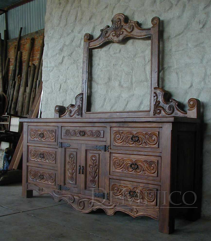 custom spanish style furniture. Custom Style Dresser With Mirror, Spanish Furniture T
