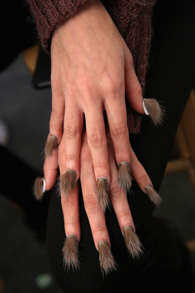 IT\'S FUR NAILS, PEOPLE. | Fur nails, Nail trends and Furry nails
