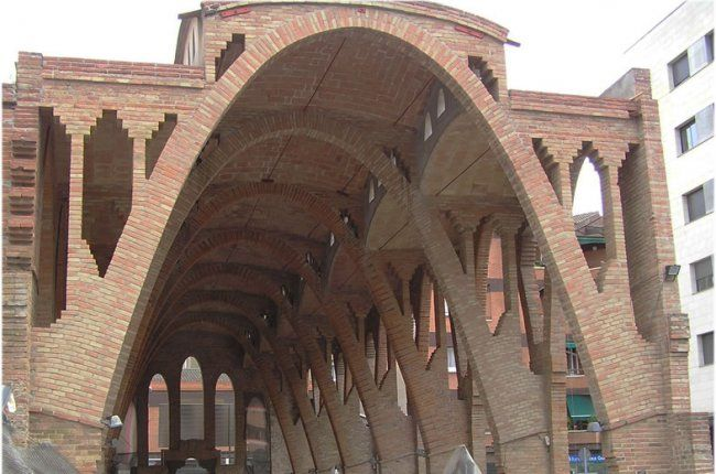 El Celler Cooperatiu De Sant Cugat Del Vallés Arch Architecture Brick Architecture Brick Arch