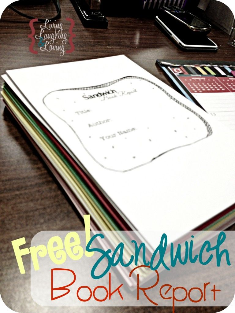 Sandwich Book Report Template For A Book About A Famous Person