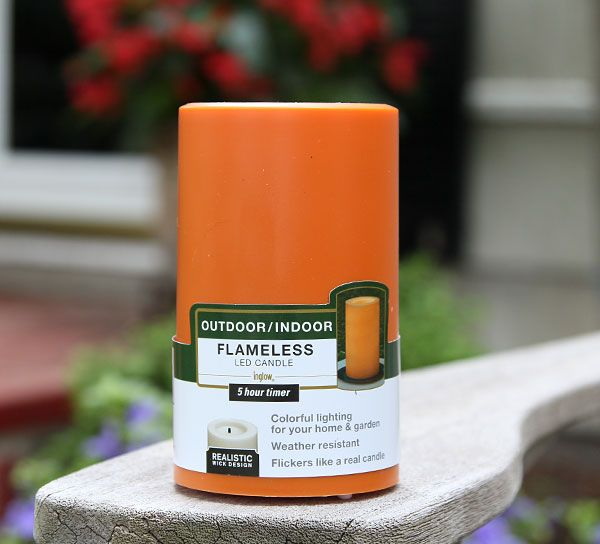 Outdoor Flameless Candles Interesting Check Out The Deal On Outdoor Orange  Candle Impressions Flameless Design Ideas