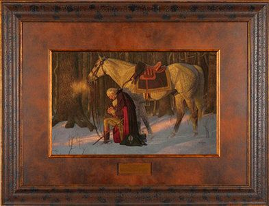 Prayer at Valley Forge by Arnold Friberg Gallery Quality Framed Art Inspirational Print George Washington Picture ID# 2011