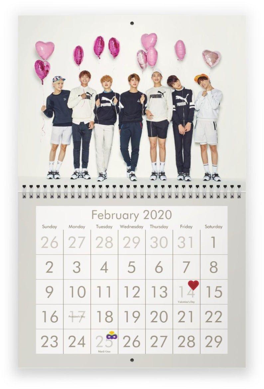 BTS 2020 Wall Calendar ในปี 2020