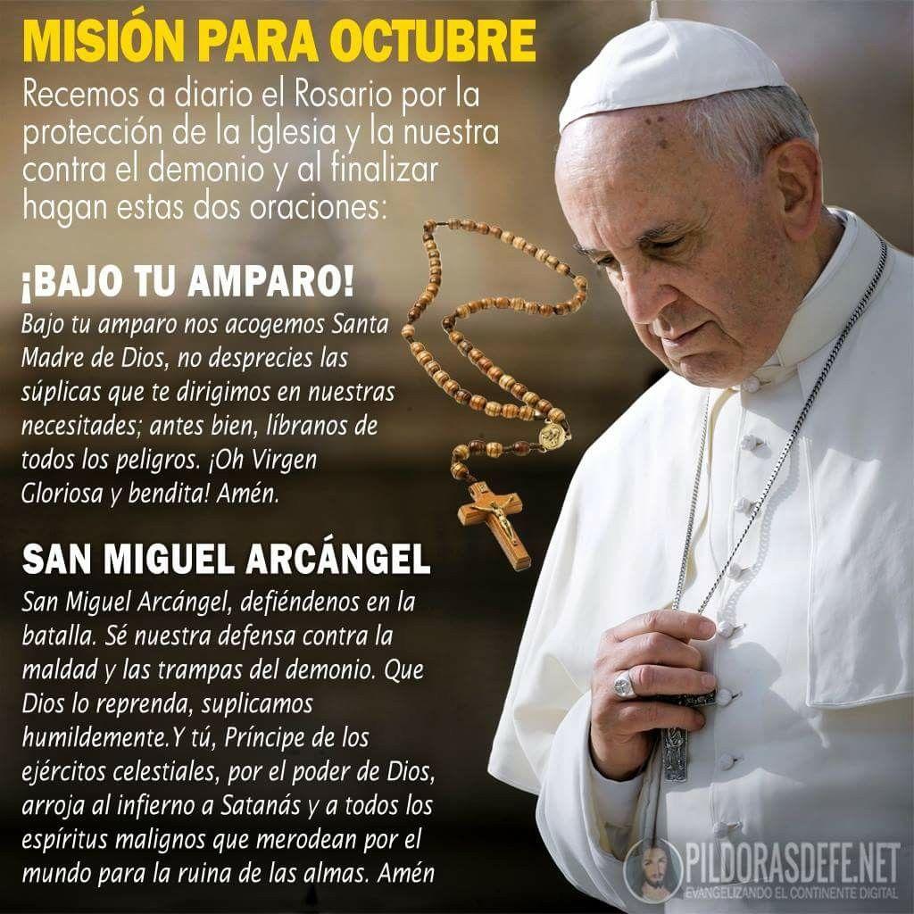 Misión Del Papa Francisco Rezar El Rosario Rosarios Oraciones Catolicas