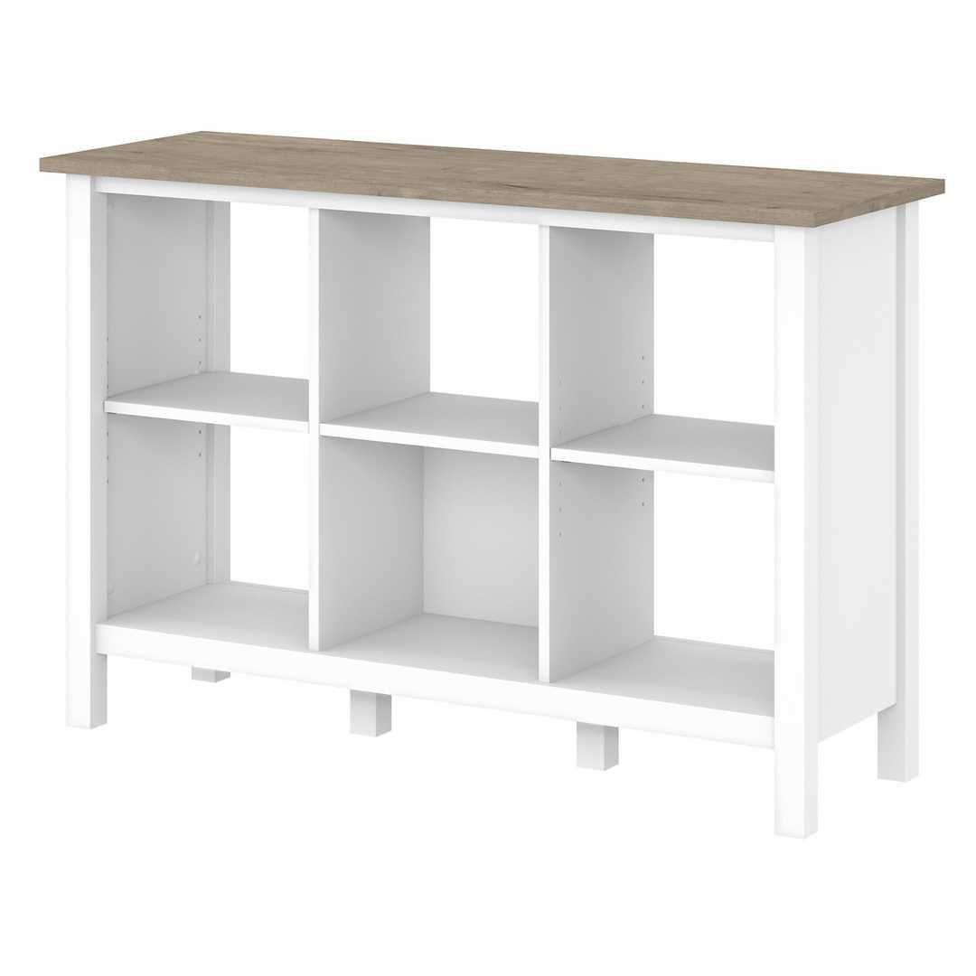 6 Cube Bookcase – Shiplap Gray/Pure White / Unique / Various