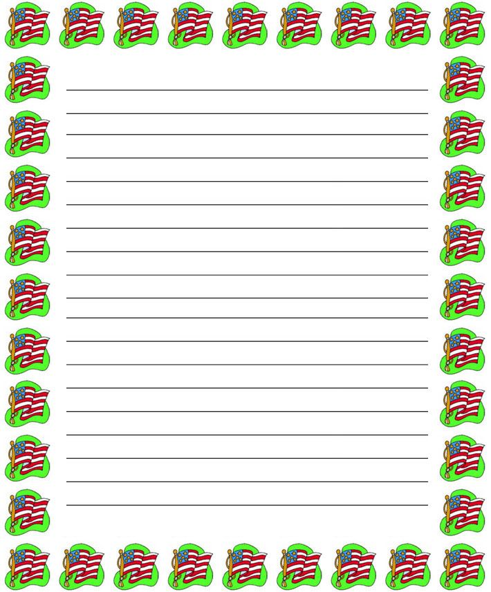 free 4th of july printables Regular lined patriotic 4th of - free lined handwriting paper