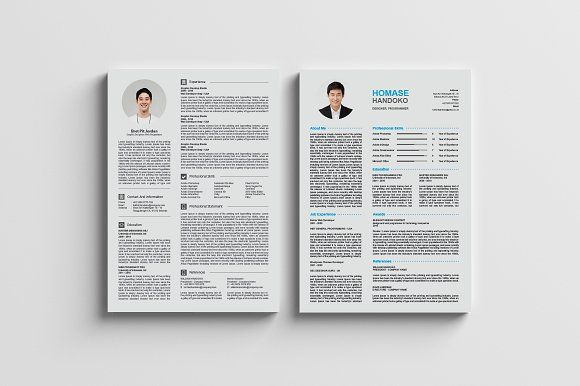 Top 2 Page CV \/ Resumes \/ A4 by Design Studio Pro on - resumes by design
