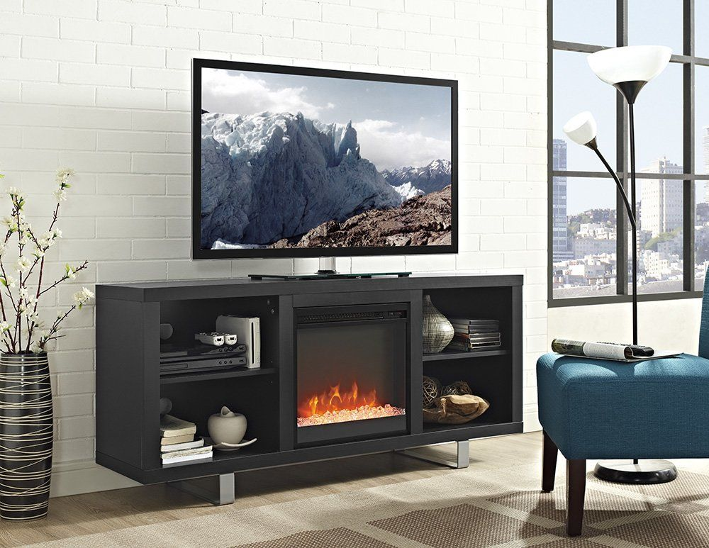 Depasquale 58 Tv Stand With Fireplace Modern Electric Fireplace Saracina Home Fireplace Tv Stand
