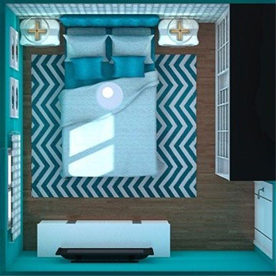 Una pequeña pero preciosa habitación en verde esmeralda