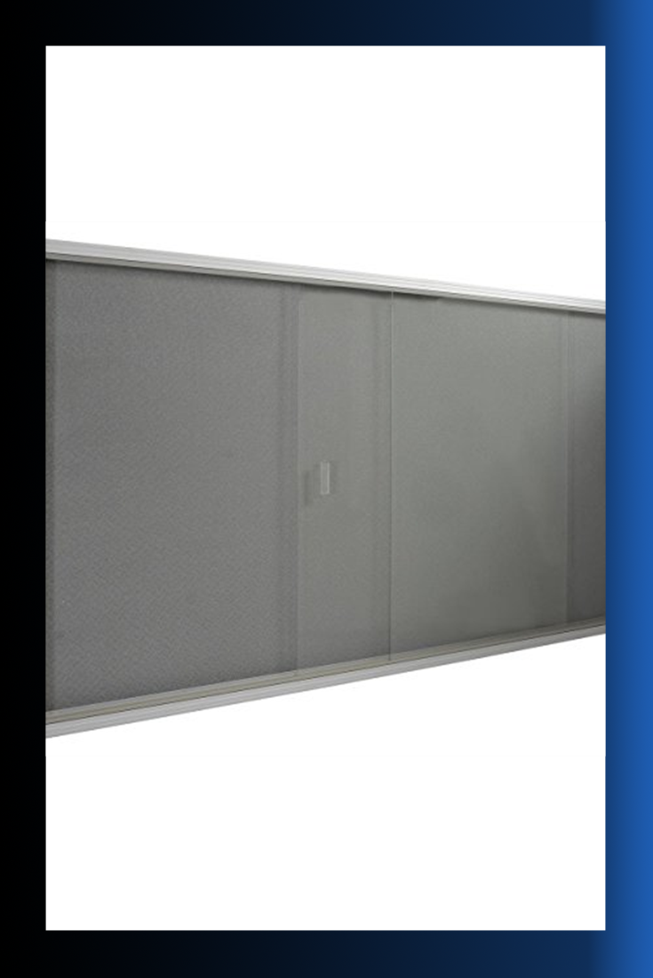 Displays2go 5 X 3 Inches Indoor Bulletin Board With Sliding Glass