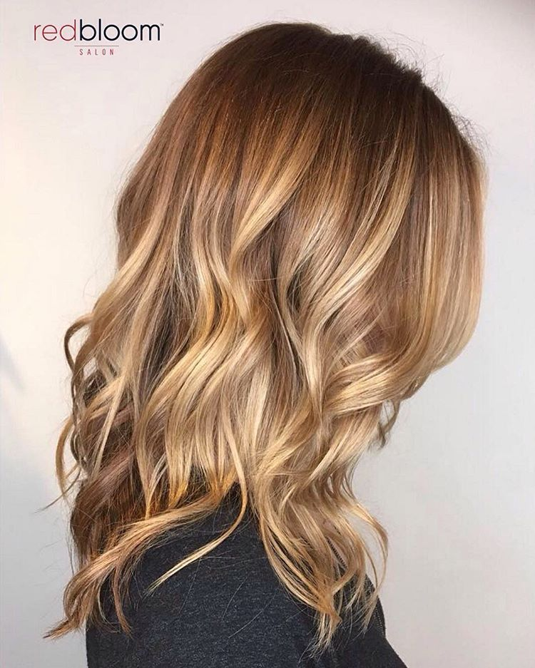 """RedBloom Salon on Instagram: """"Warming up those blondes for fall, and I'm loving every minute of it.� Hair by intermediate stylist Justine @hairbyjustineb . . . .…"""""""
