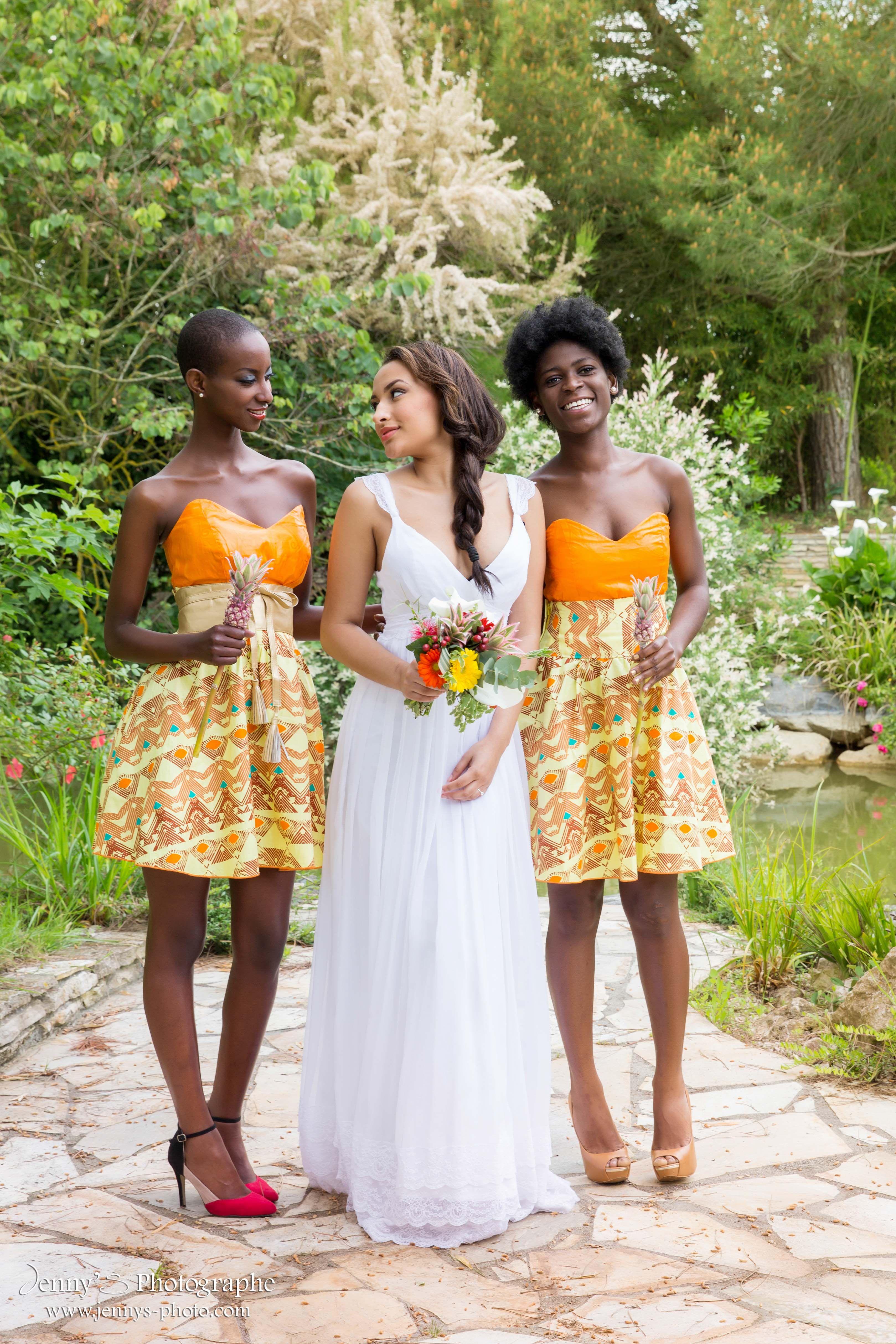Robe demoiselle d 39 honneur mariage africain mariage for Robes de mariage de plage pour les enfants