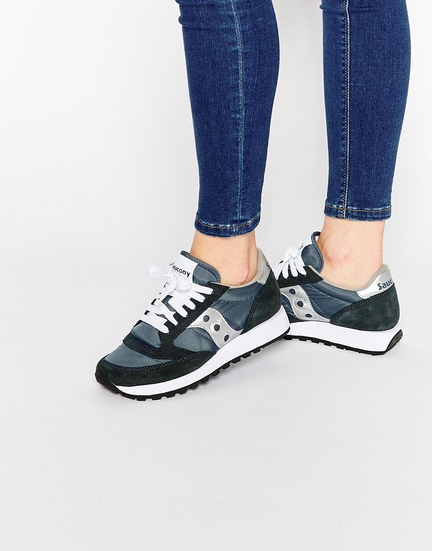 Image 1 of Saucony Jazz Original Navy   Silver Sneakers 5c3c207d511