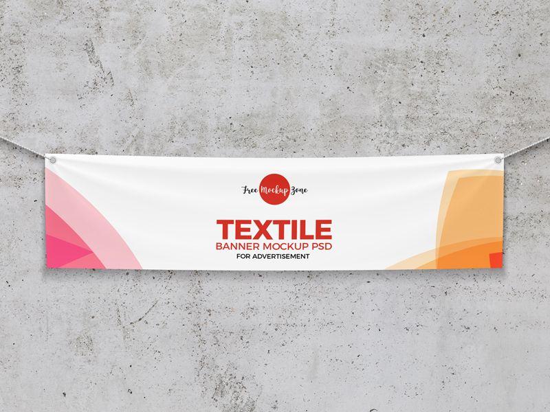 Free Elegant Textile Banner Mockup Free Mockup Free Banner Banner