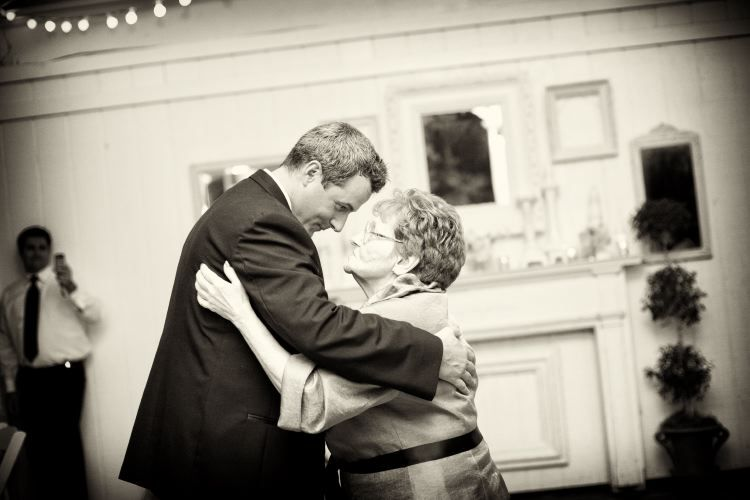 Sweet moments with the groom and his grandmother