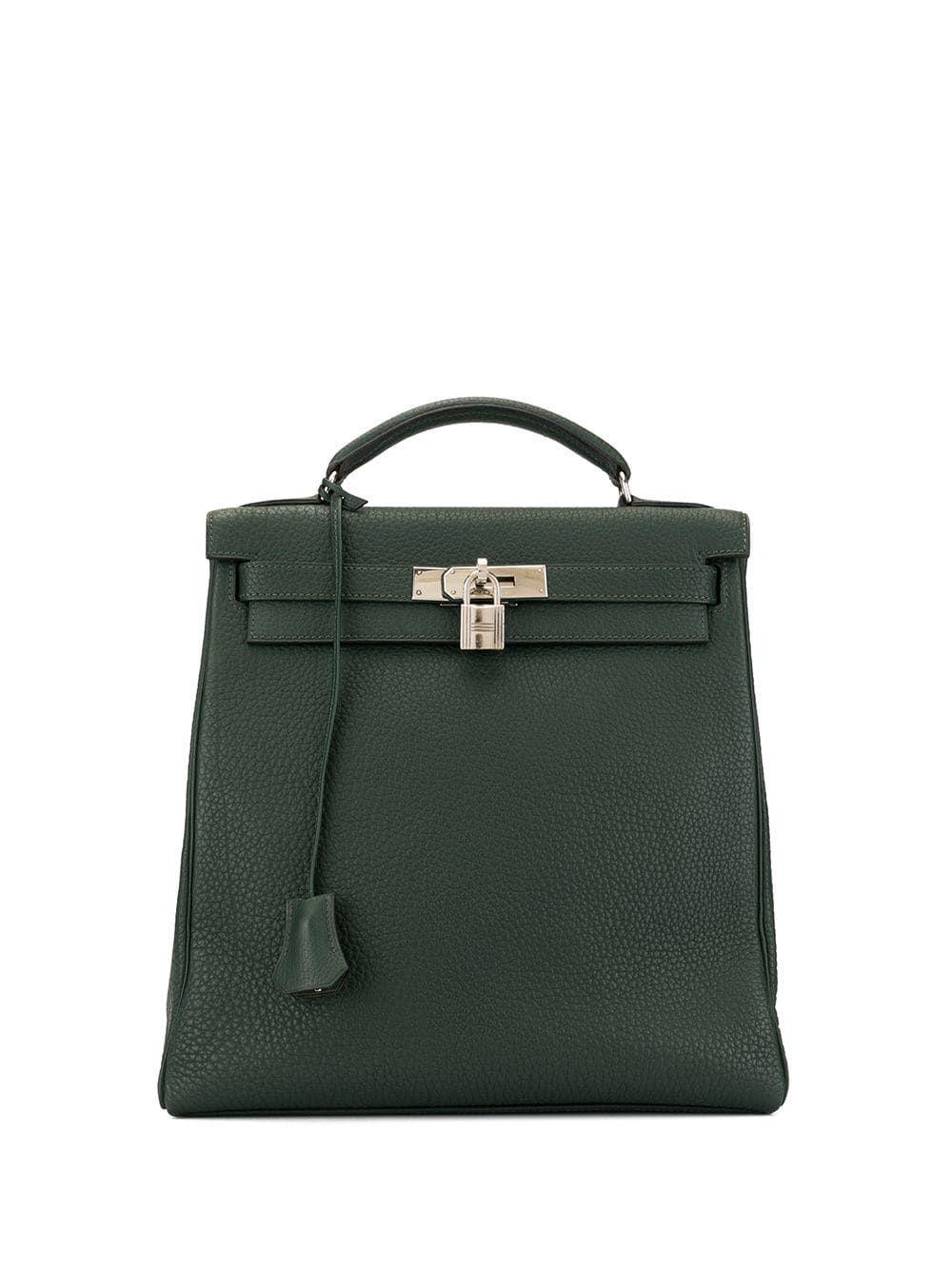 Hermes Pre Owned Kelly Ado Gm Backpack Green Hermes Kelly Hermes Hermes Style