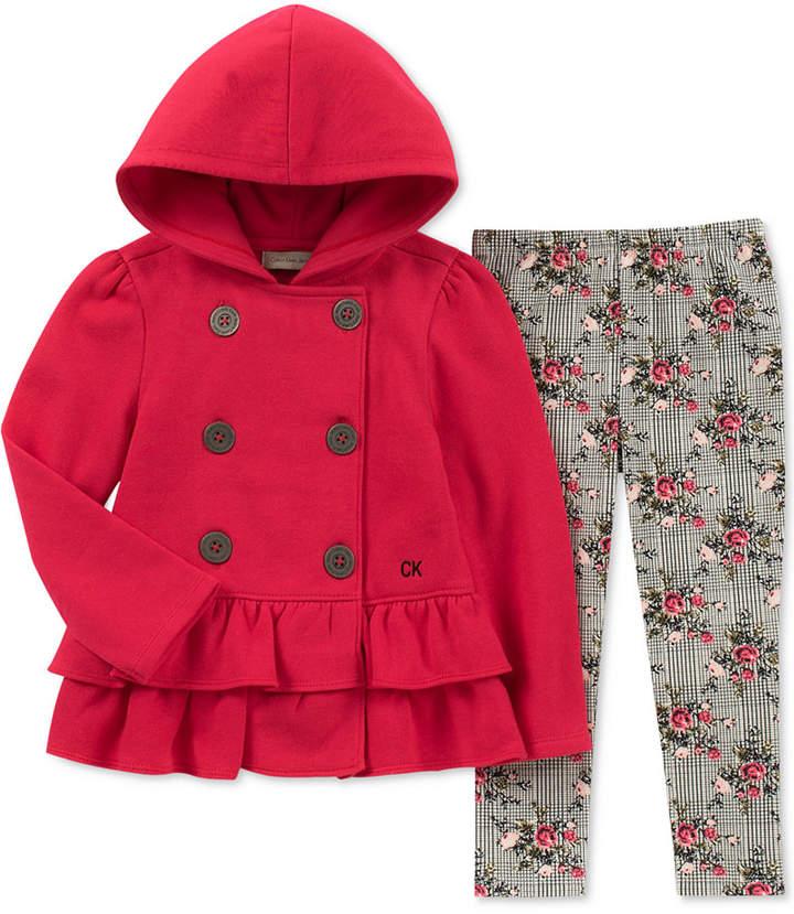 Calvin Klein Baby Girls 2 Pc Hooded Jacket Leggings Set Calvin Klein Baby Baby Girl Pajamas Macys Fashion