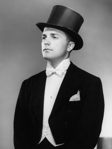 ec9d41d3d1ffe Man Wearing Tuxedo and Top Hat Posing in Studio Photographic Print by  George Marks at AllPosters.com