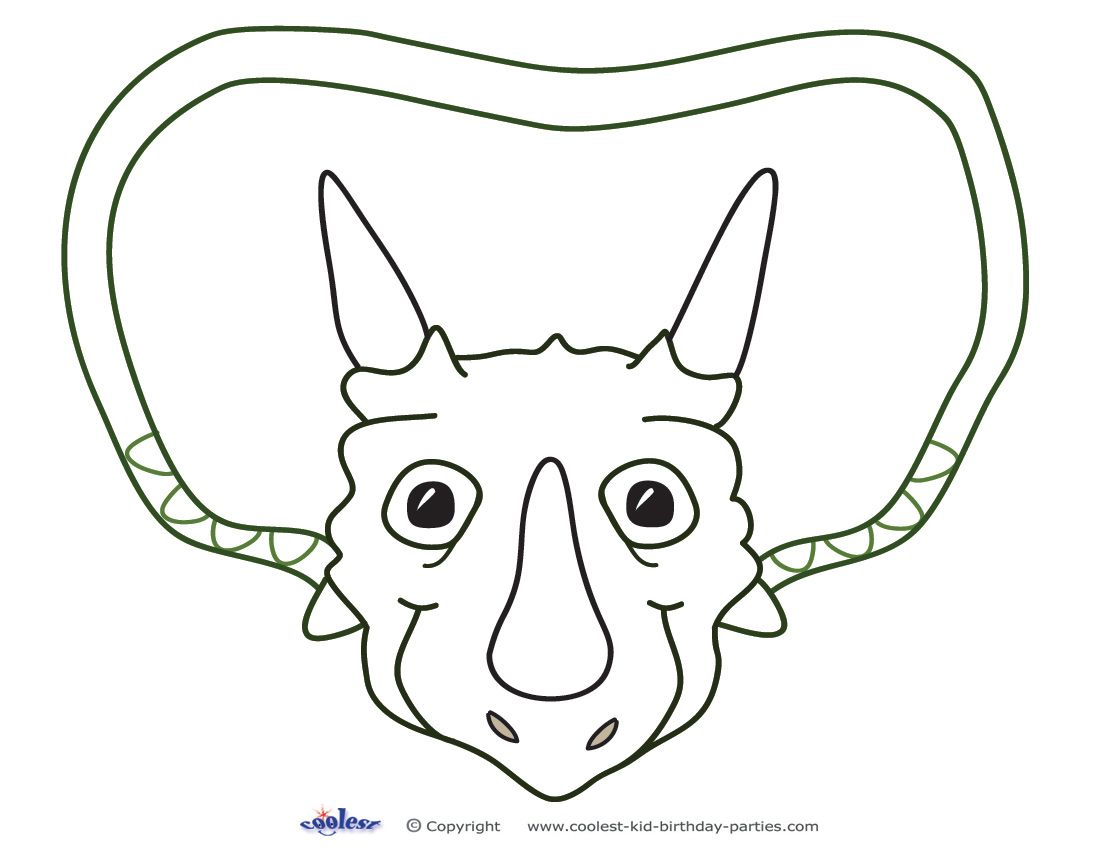 printable triceratops dino decoration coolest free printables