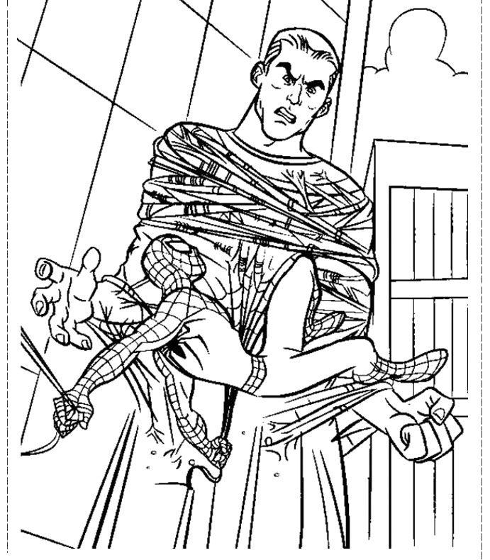 Spiderman Tie Sandman Coloring Pages   Spiderman Cartoon Coloring Pages