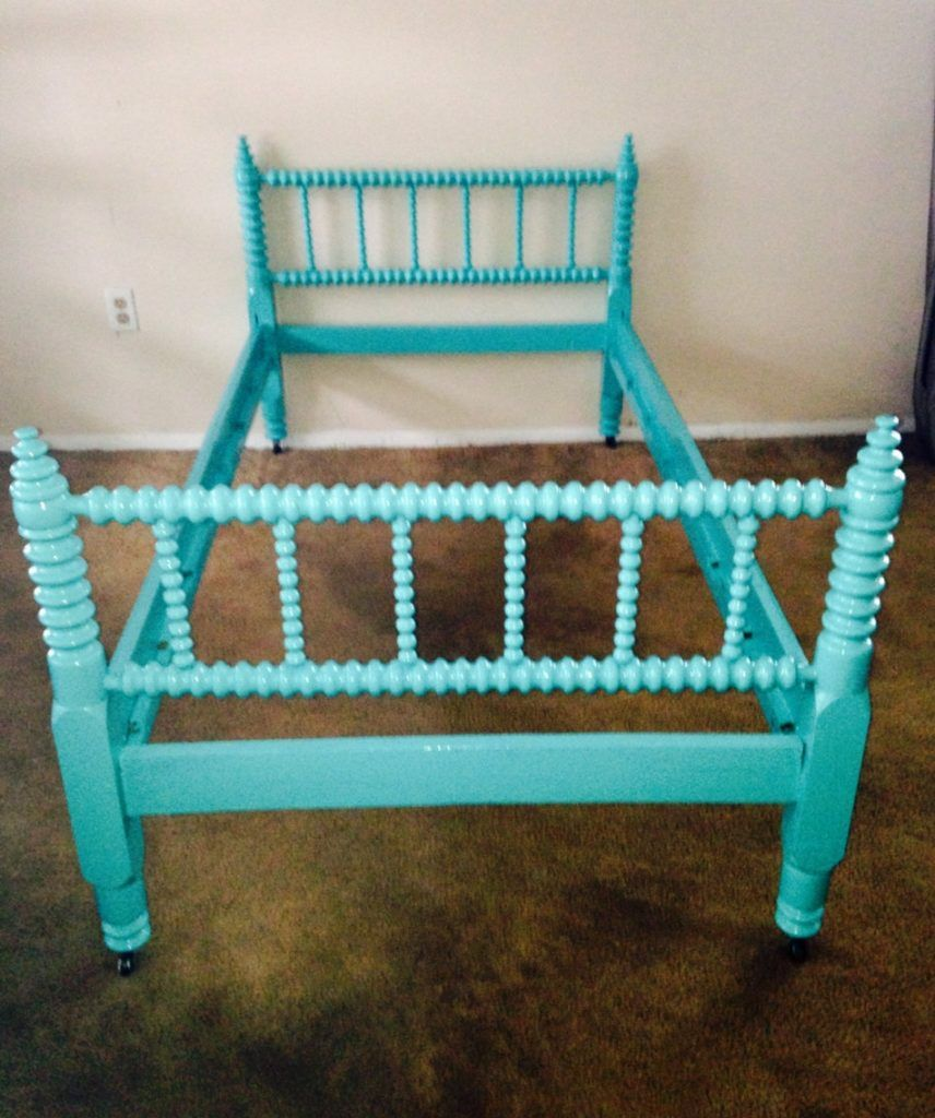 Teal Twin Bed Frame Jenny lind twin bed, Kids twin bed