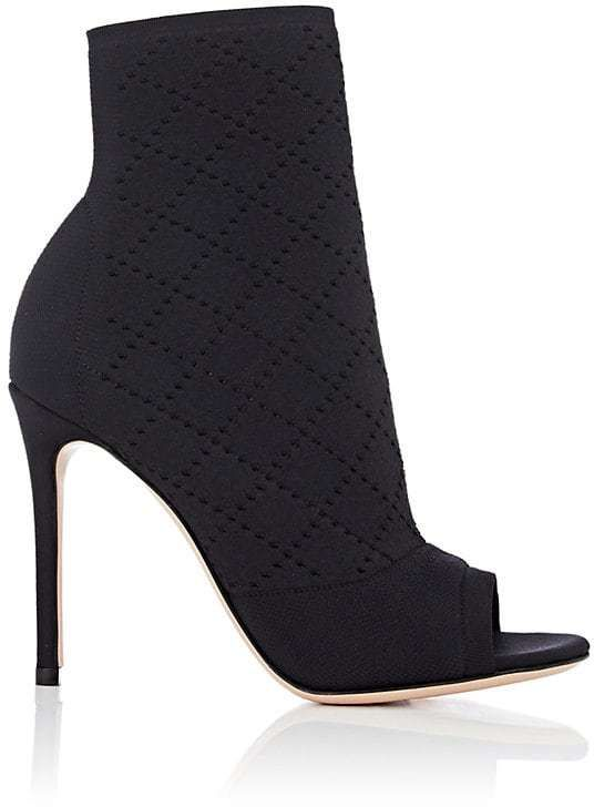 Womens Perforated Knit Ankle Booties Gianvito Rossi