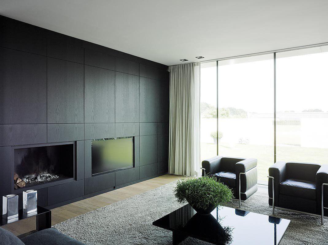 Modern huis design interieur kastenwand woonkamer pinterest
