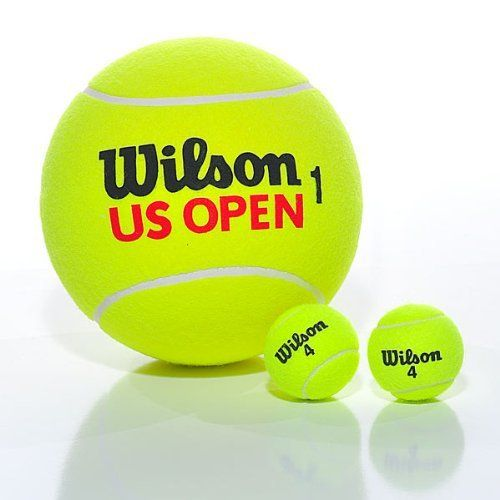 Giant Tennis Ball Wilson By Great Big Stuff 43 22 Your Friends Will Die Laughing When You Bring This Huge Tennis Ball On Tennis Ball Tennis Tennis Events