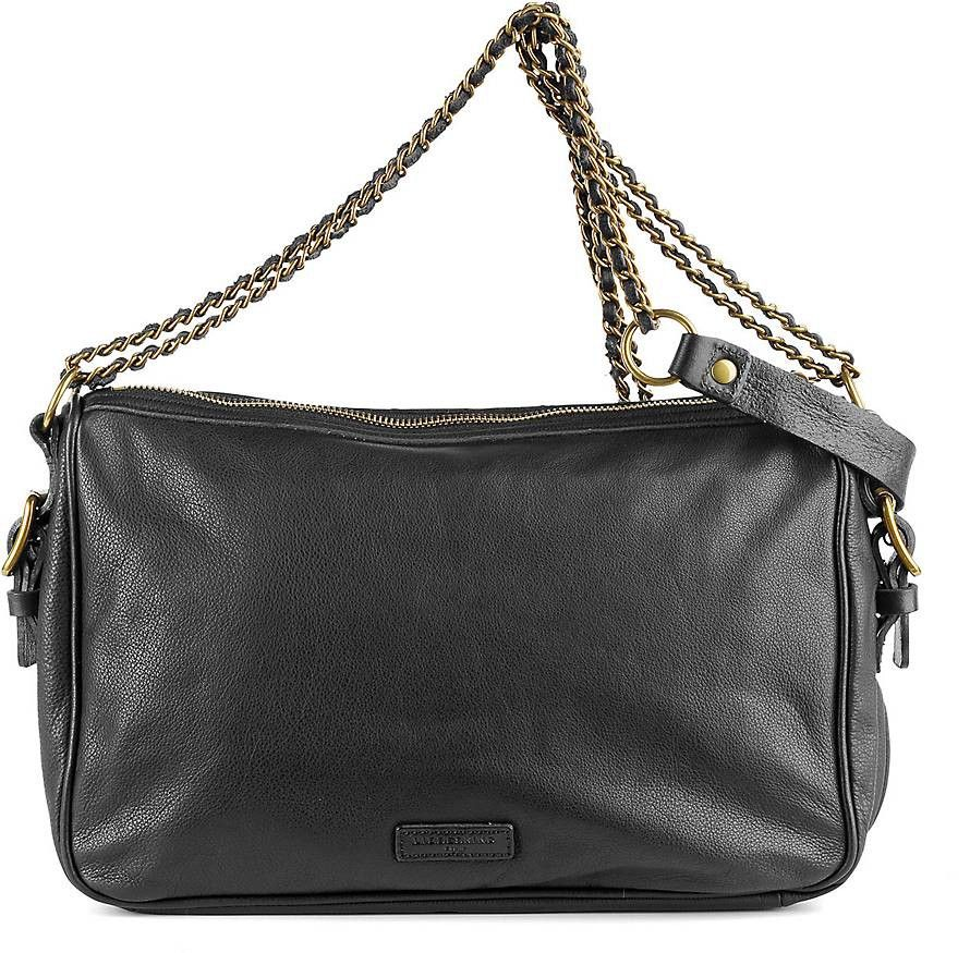 Leder-Clutch in schwarz, Clutches & Abendtaschen für Damen Gr. 1 Cox