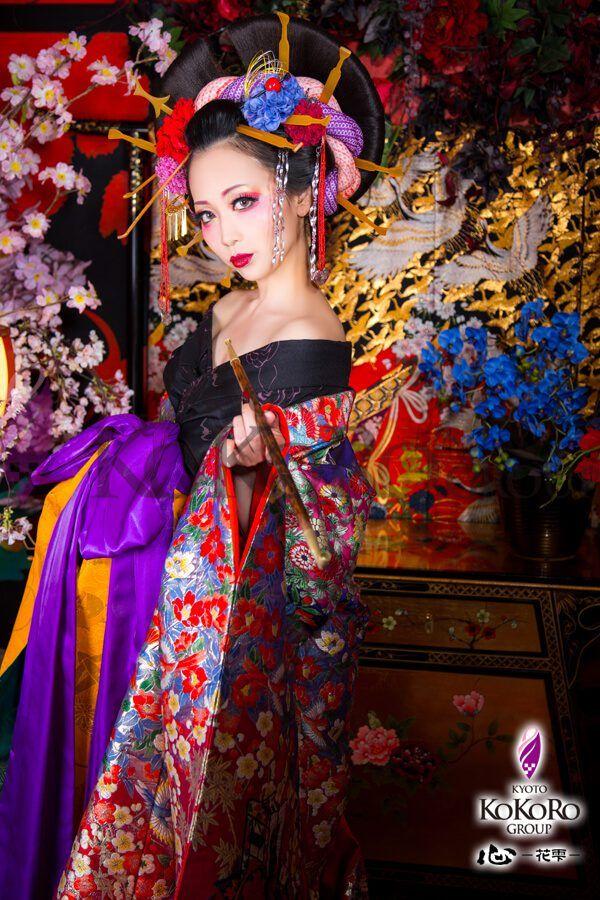 古典と現代の花魁ヘアスタイル 舞妓体験 舞妓 花魁 体験